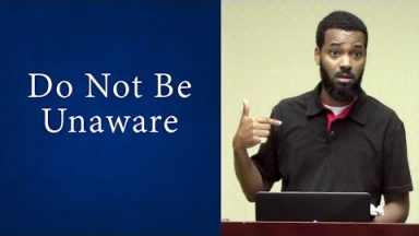 Do Not Be Unaware – Tawfiq Cotman-El